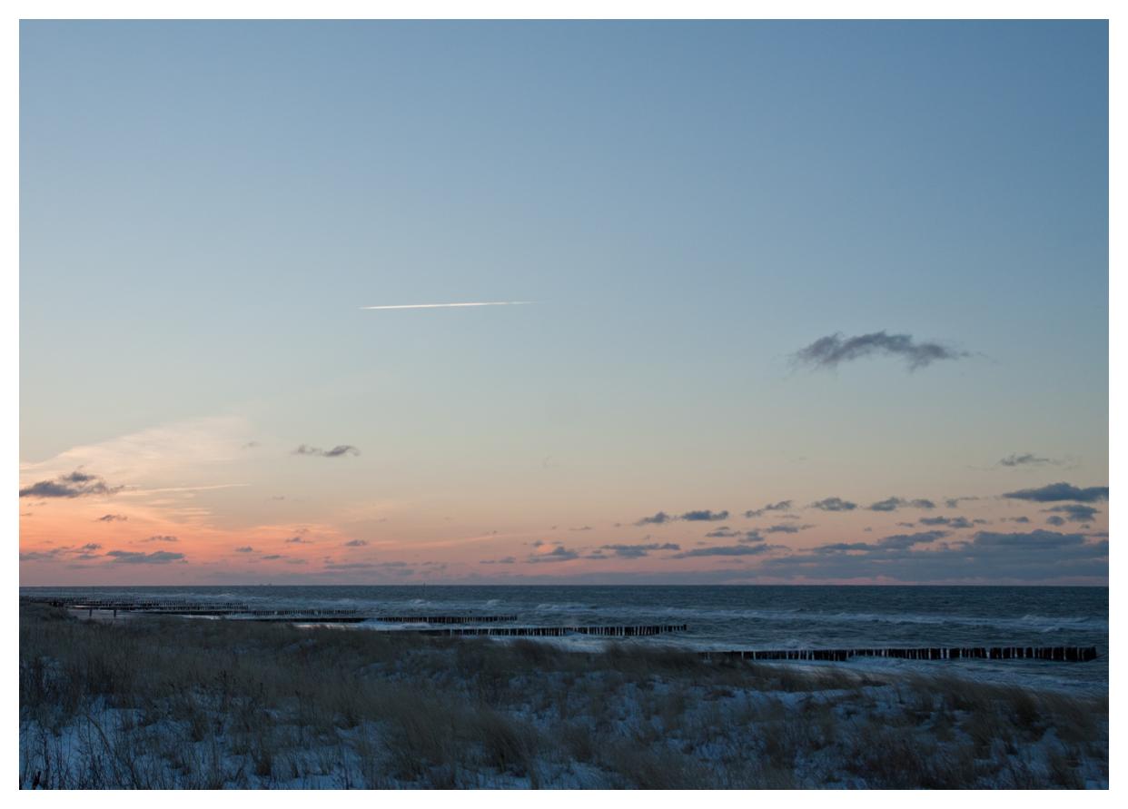 die Abendsonne an der Ostsee