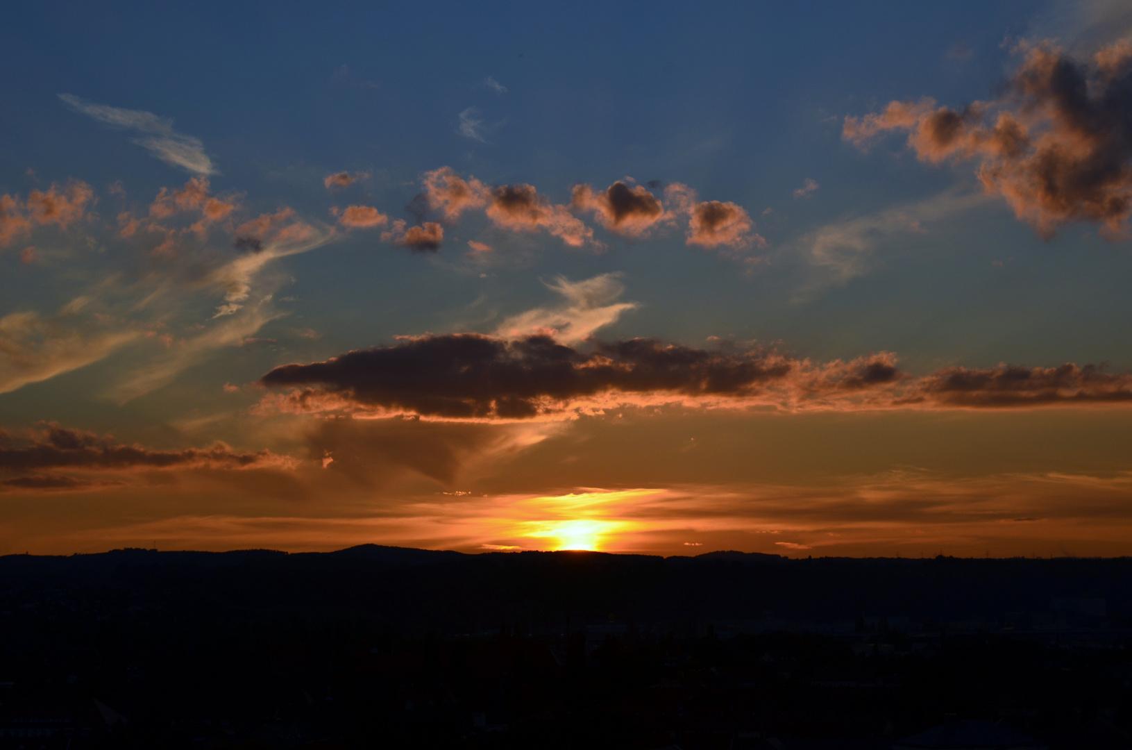 Die Abendsonne verschwindet!