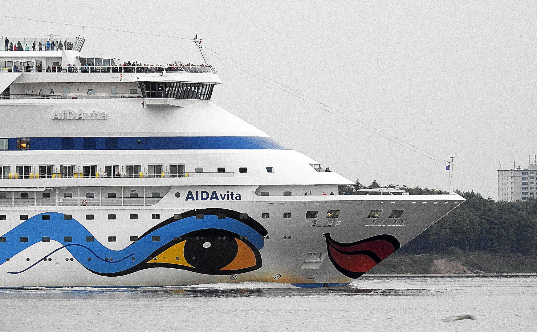 """Die """"AIDAvita"""" vor Laboe in der Ostsee"""