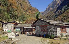 Die Alp Himalaya auf dem A.B.C. Trek