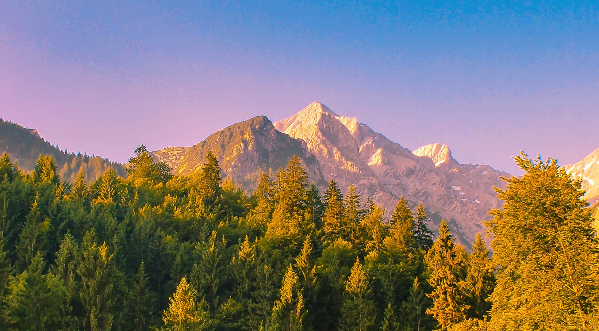 Die Alpen im Sonnenaufgang!