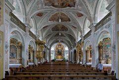 Die Altarsicht in der Klosterkirche Au
