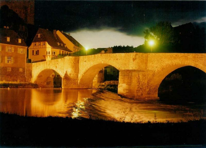 Die alte Brücke von Runkel