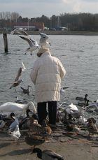 Die alte Dame und Ihre Vögel...