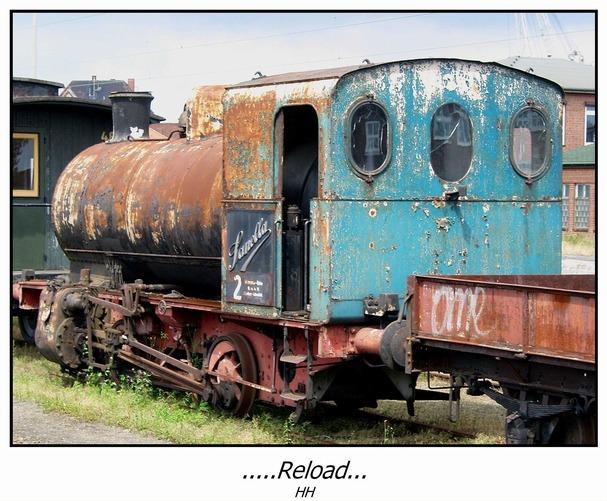 ..die alte Sanella-Lokomotive....