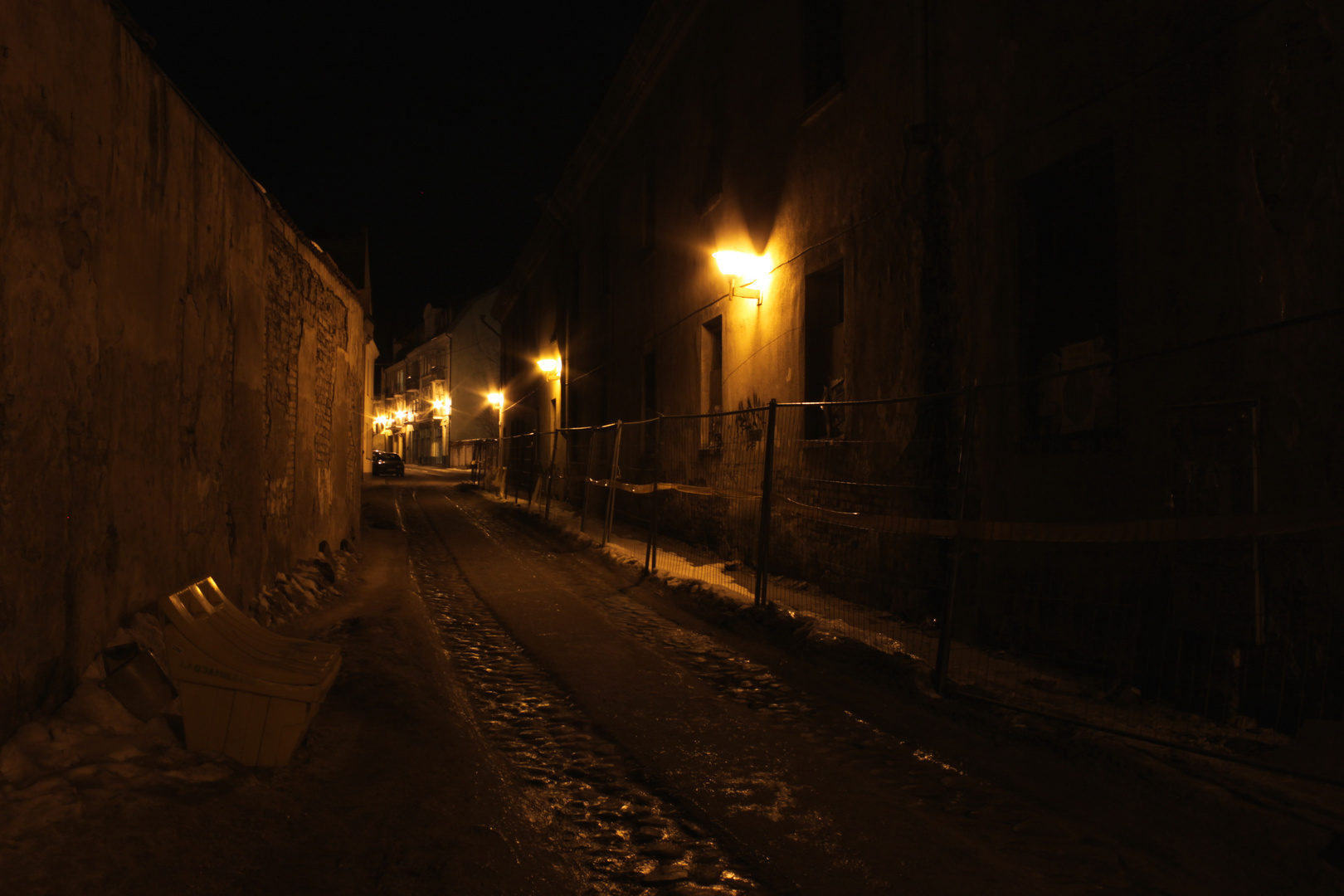 Die alte Stadt bei der Nacht