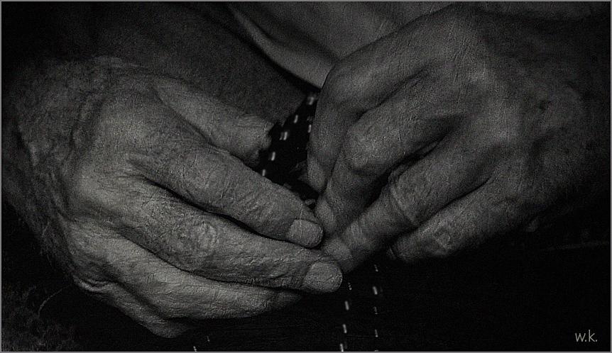 die alten Hände...