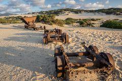 die alten Minenwagen...