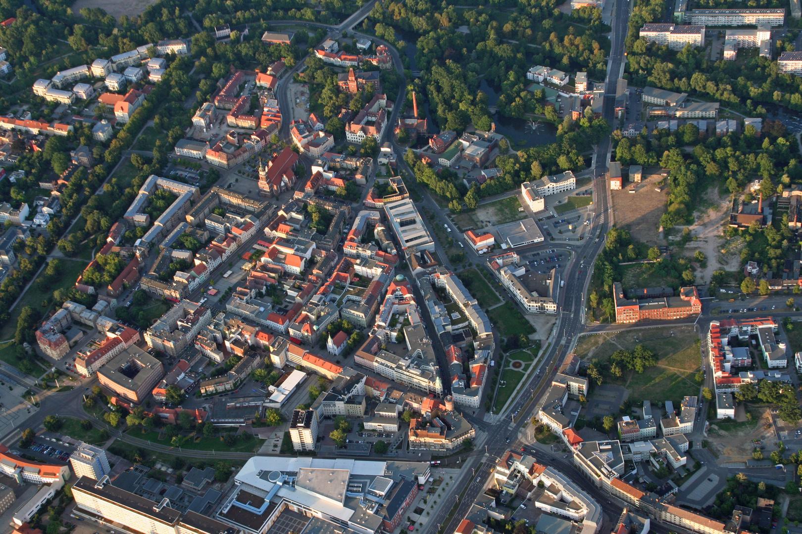 Die Altstadt von Cottbus