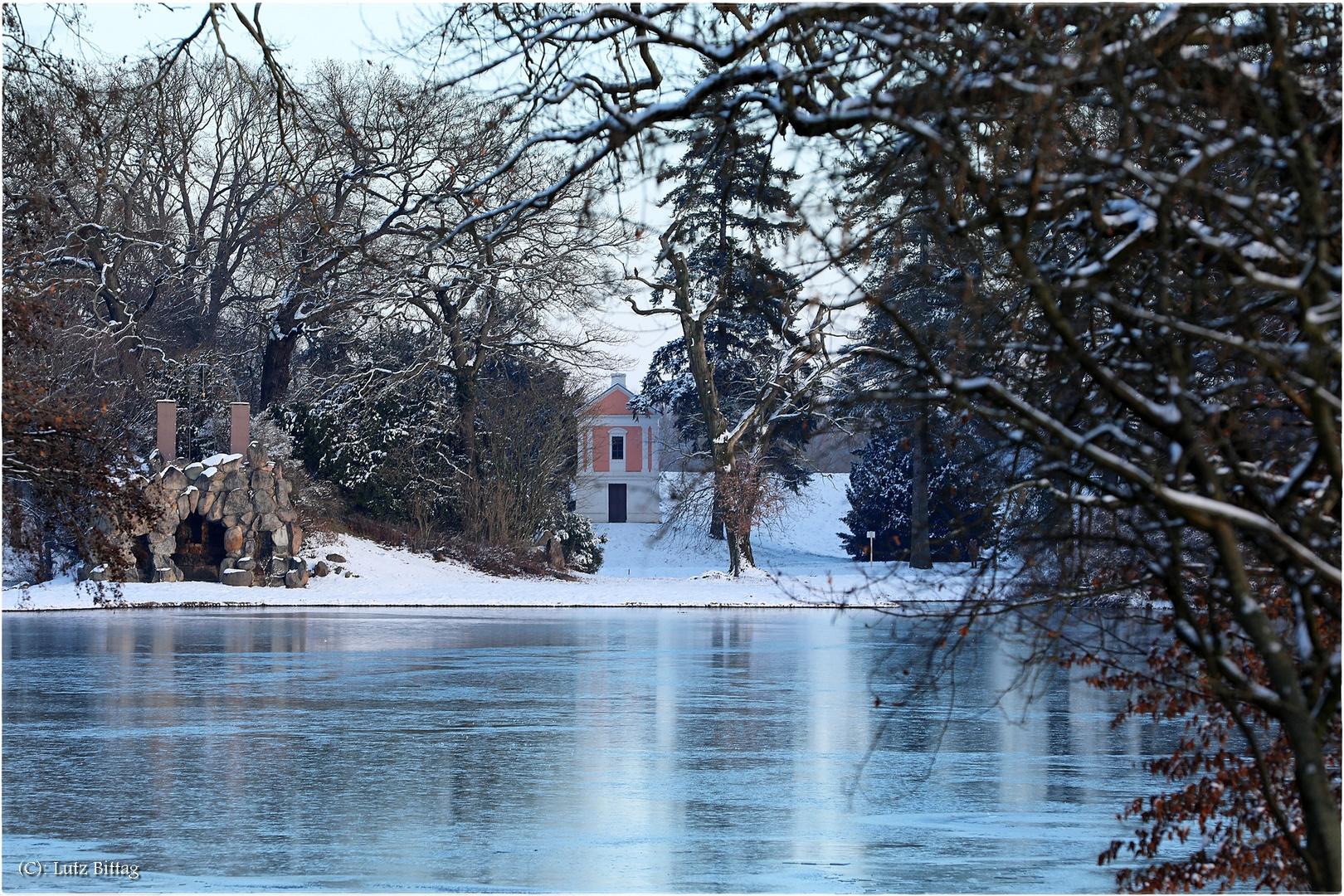 Die Amalieninsel im Winter