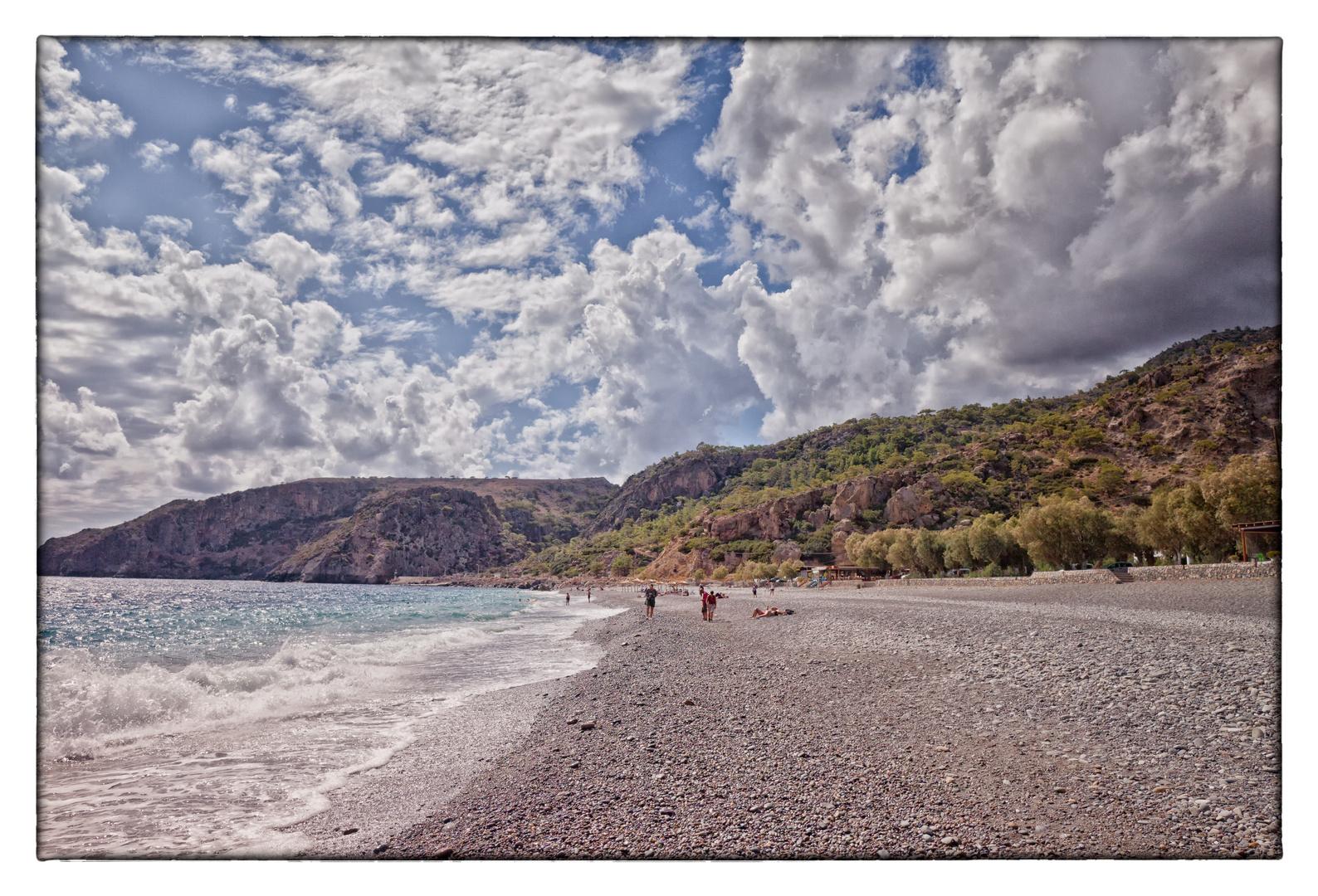 Die andere Seite vom Strand in Sougia