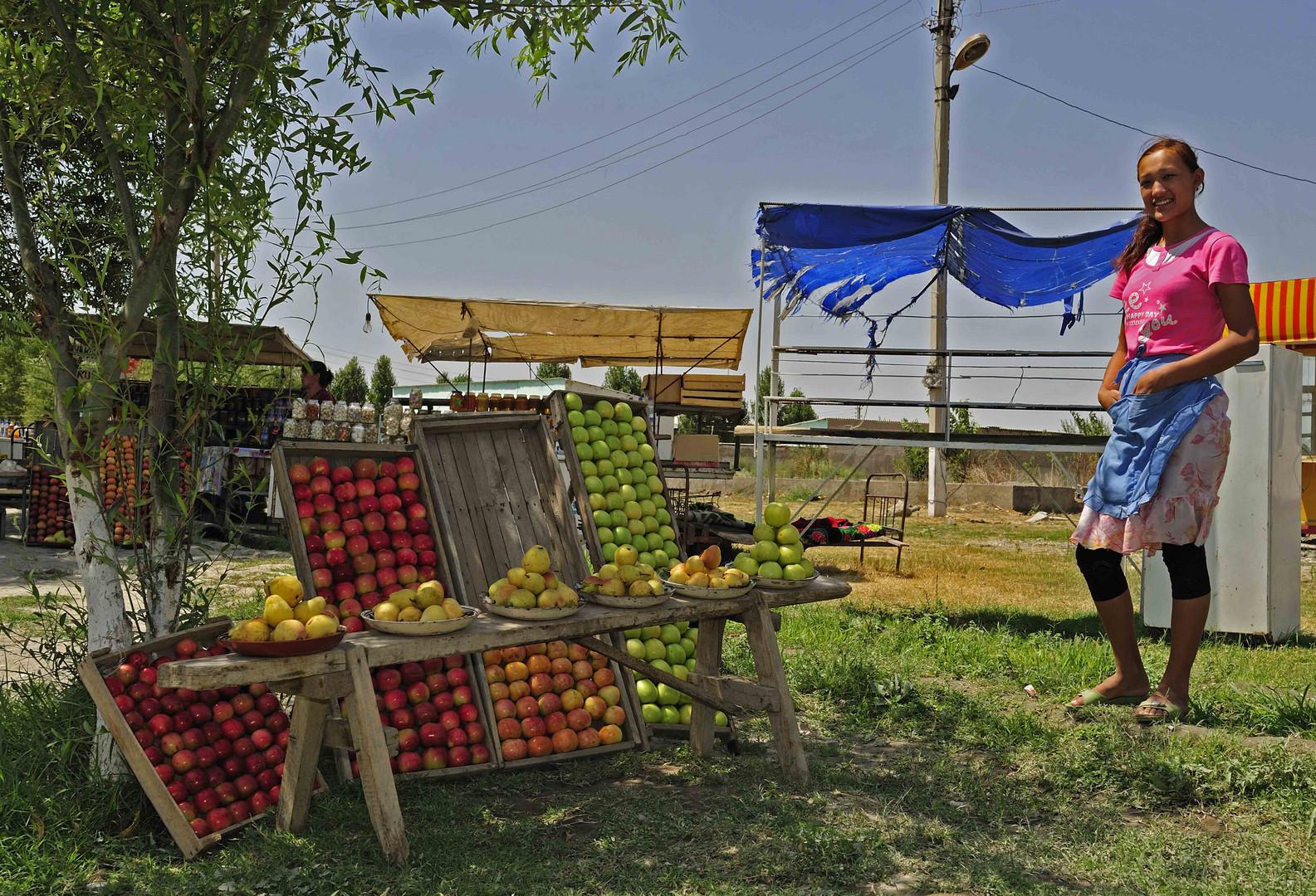 Die Apfelverkäuferin