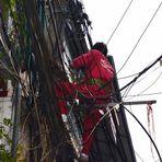 Die Arbeit eines Elektrikers