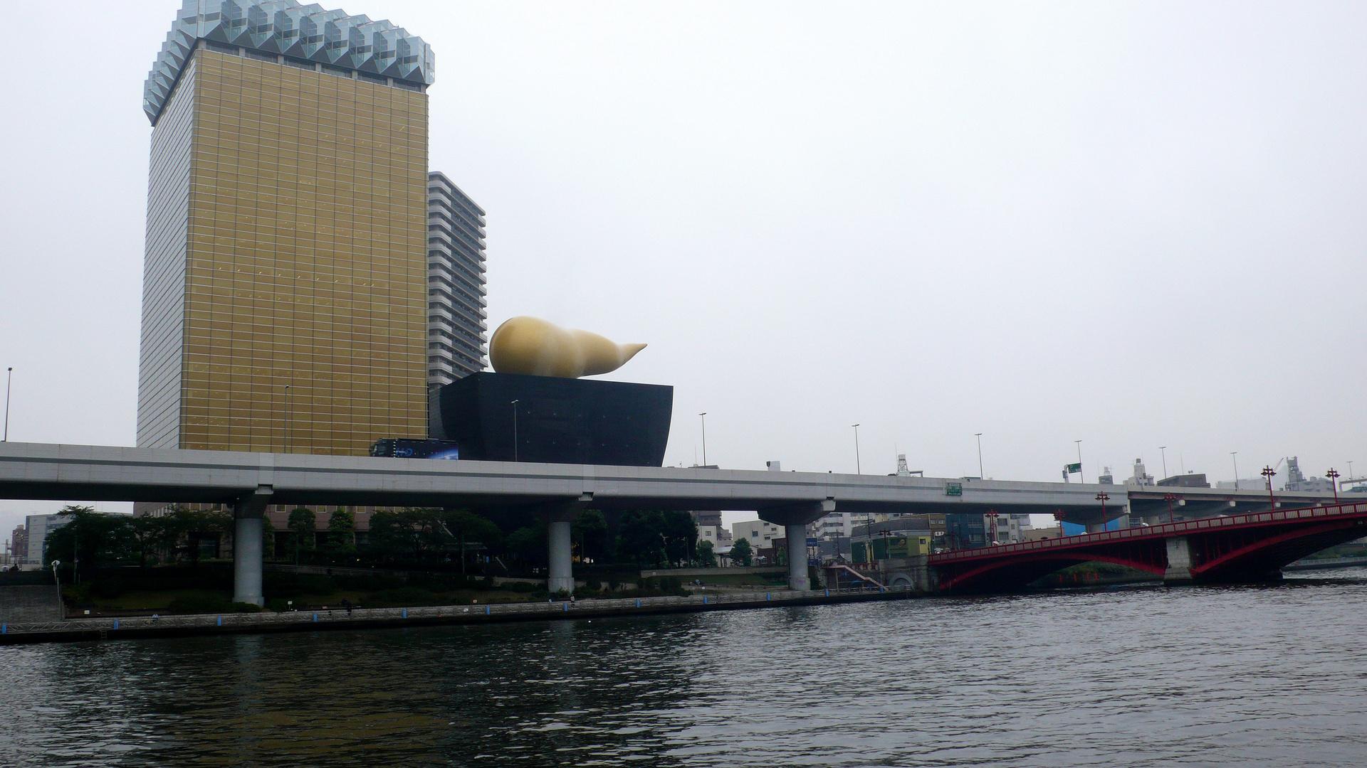 Die Asashi-Brauerei am Sumida Ufer