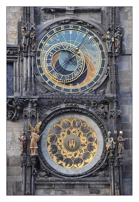 Die astronomische Uhr am alten Rathhaus.