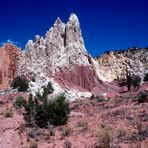 "Die ""atemraubende Sandstrasse"" zum den Kodachrome Basin Park, Utah"