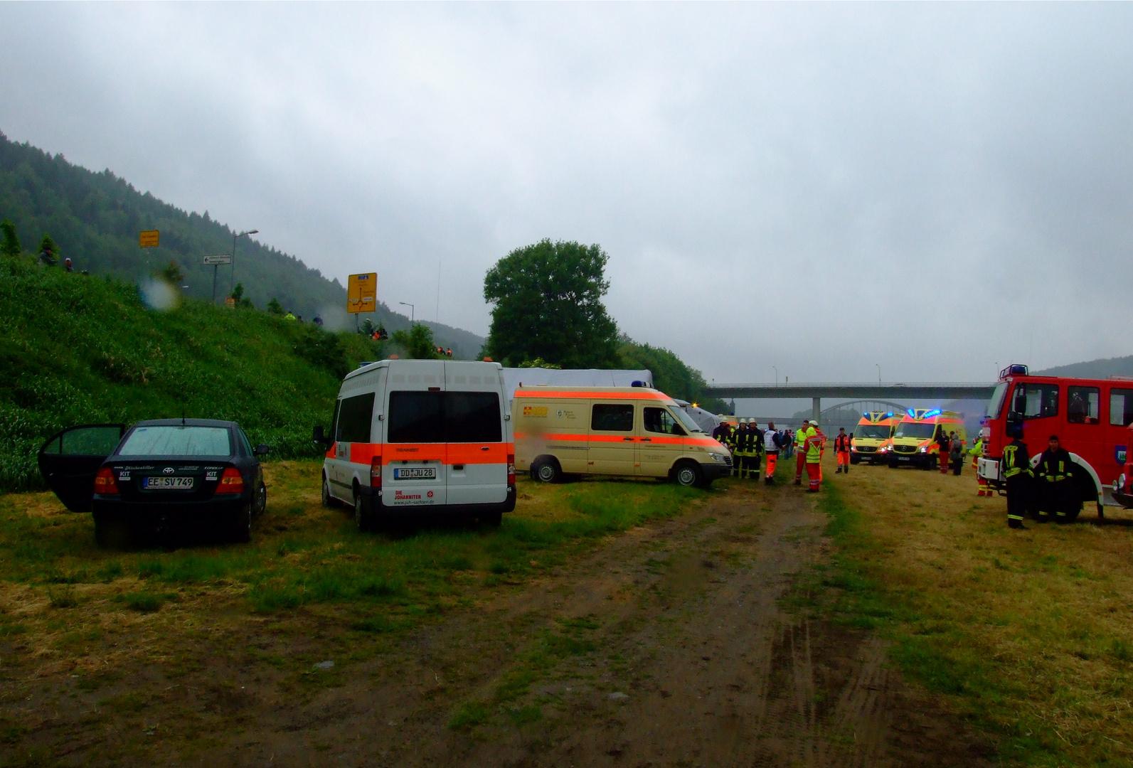 °°°Die Bad Schandauer Bahnhofsfähre brennt - Großübung Elbnebel°°°