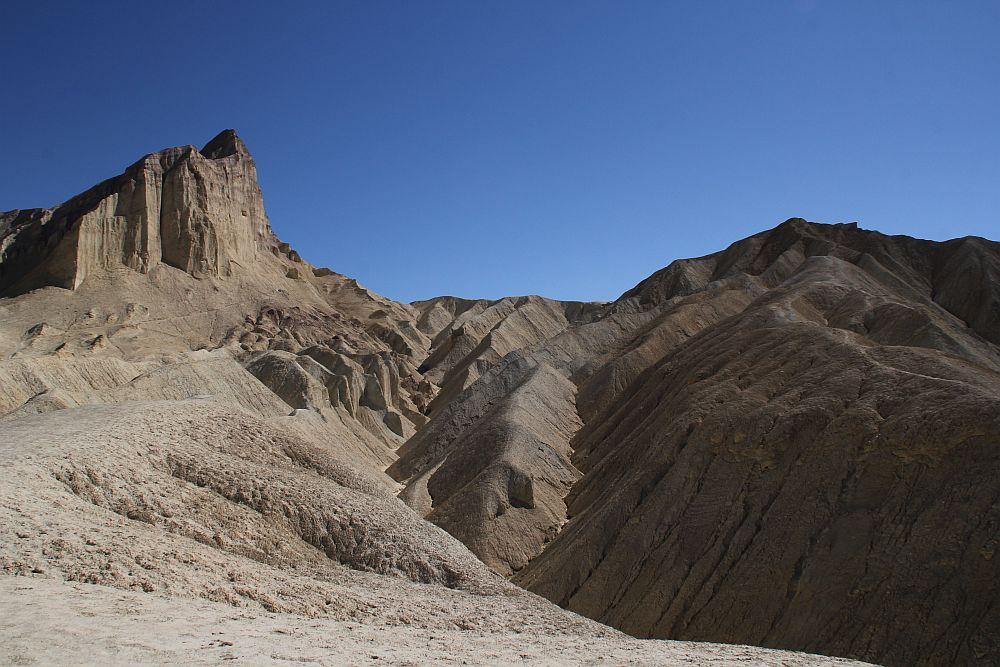 Die Badlands am oberen Ende des Golden Canyon....