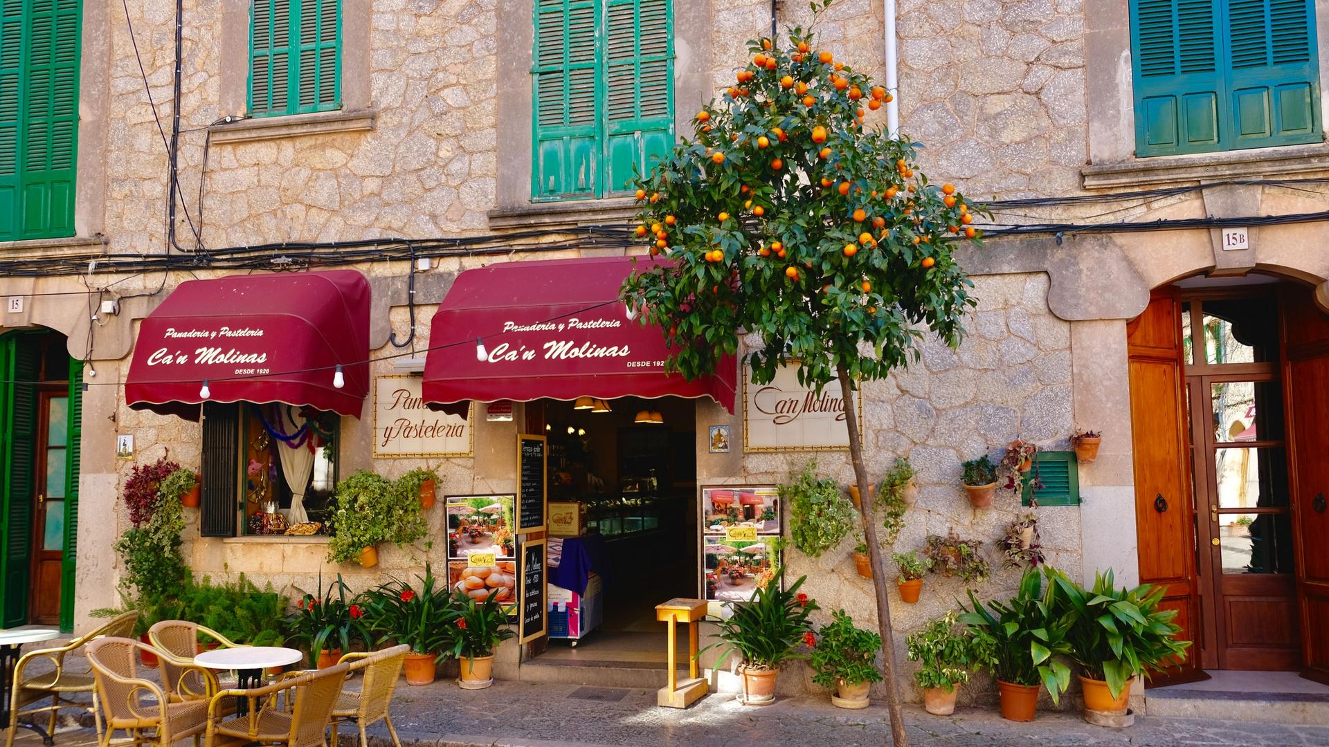 Die Bäckerei Ca´n Molinas ist ein wahrer Blickfang