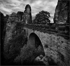 Die Basteibrücke, einmal ohne Touristen...