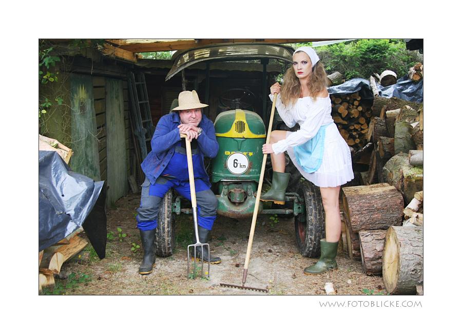Die Bauersfrau mit ihrem Bauern #1