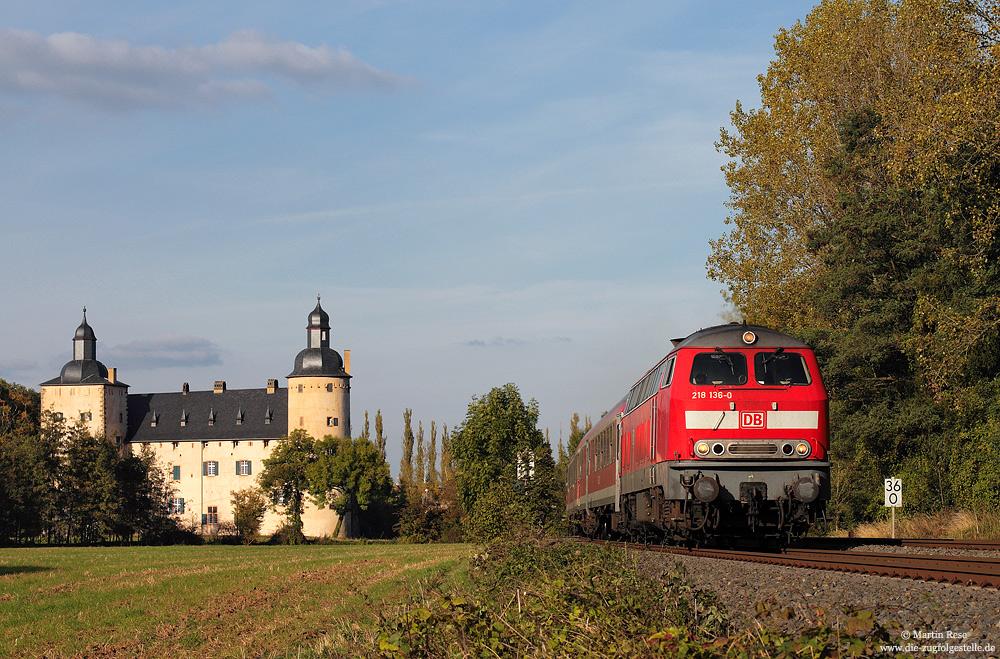Die Baureihe 218 auf dem RE12