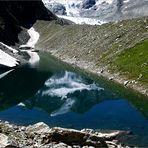 Die beiden Pointes de Mourty, 3529 m und 3564 m ...
