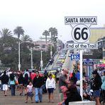 Die bekannteste Straße der Welt die Route 66 endet hier