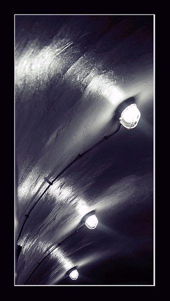 Die Beleuchtung des Stollens....