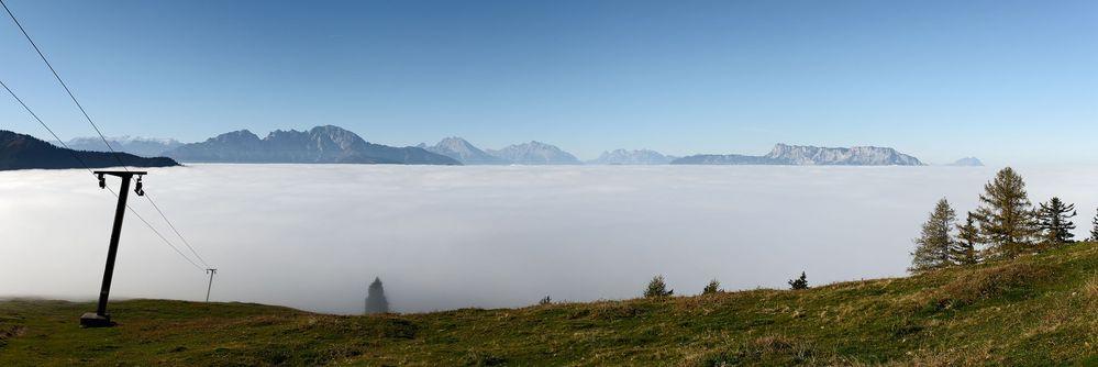 Die Berchtesgadener Alpen vom Spielberg 2