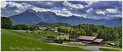 Die Berge vom Berchtesgadener Land von Bischofswiesen