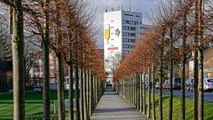 Die berühmte Pilsglas-Leuchtreklame der ehemaligen Isenbeck-Brauerei in Hamm