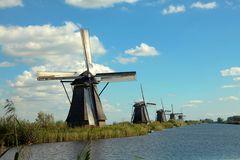 Die berühmten Mühlen von Kinderdijk