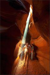 die besucher im canyon