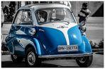 Die blaue BMW Isetta