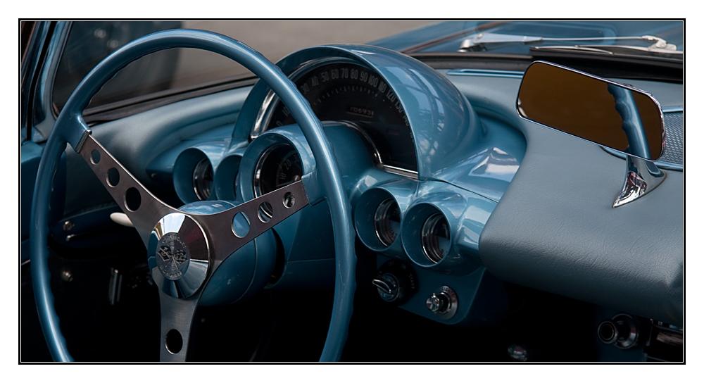 die blaue Corvette