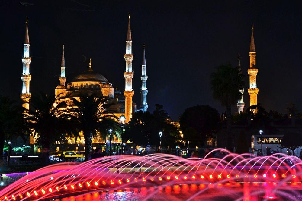 Die Blaue Moschee - Bei Nacht