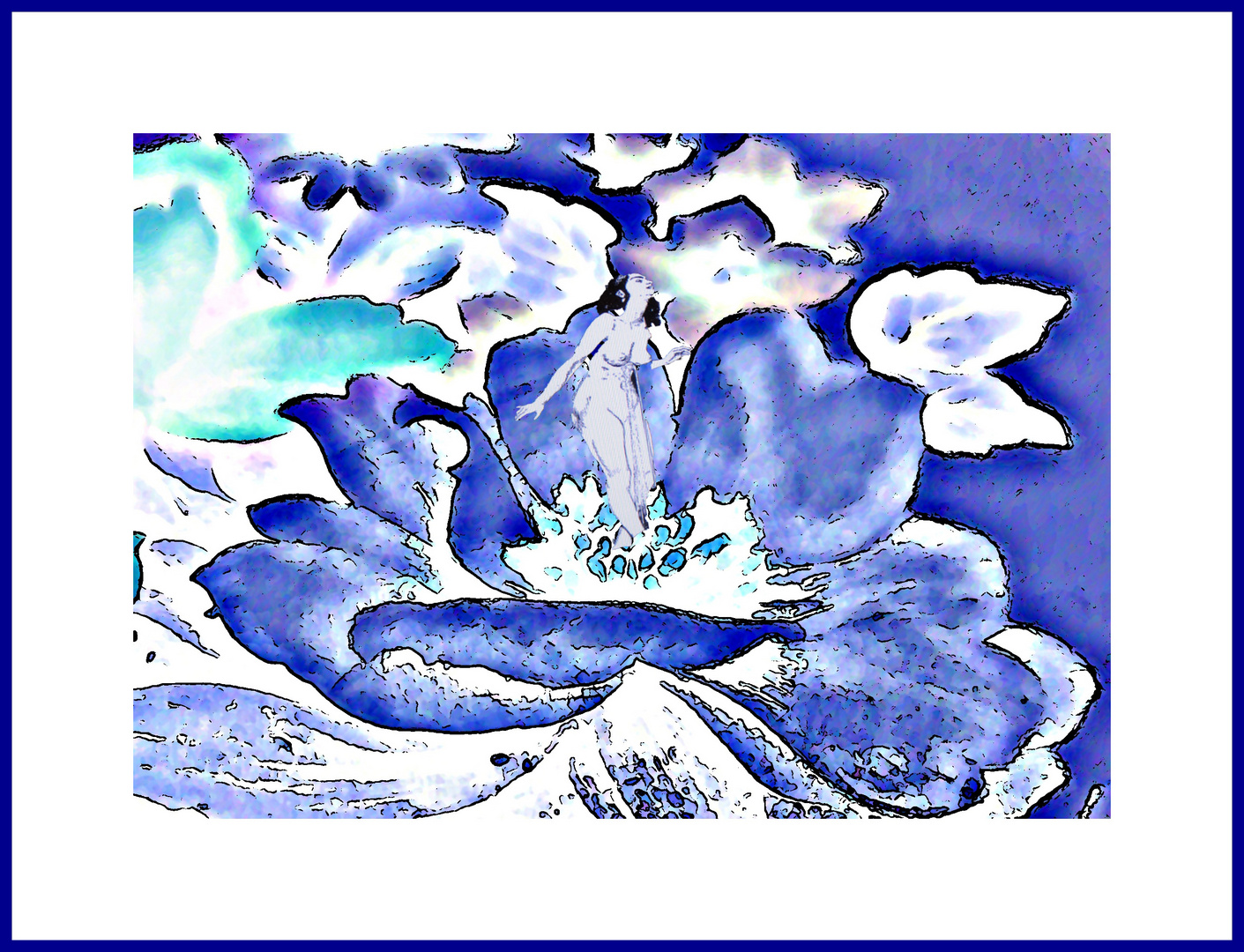 Die blaue Schönheit wartet auf den Liebhaber