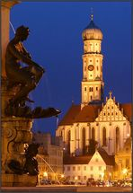Die BLAUE Stunde in Augsburg ...