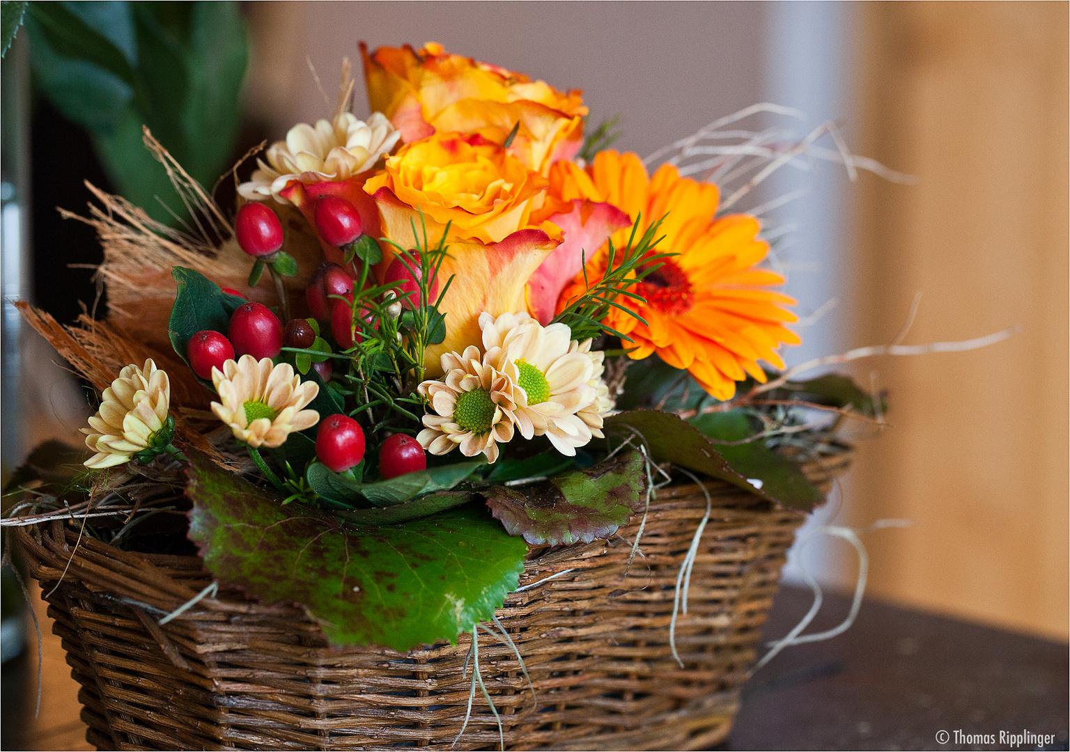 Die Blumen im Korb.....