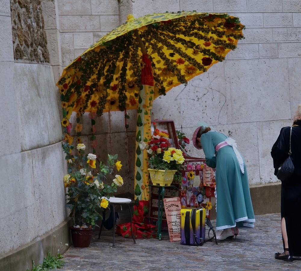 Die Blumenverkäuferin
