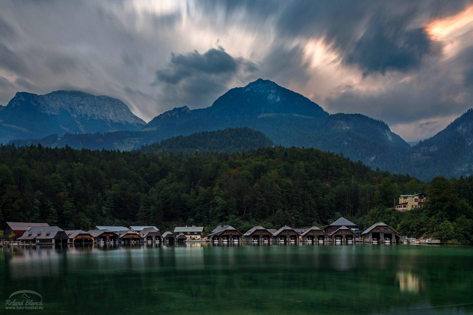 Die Bootshäuser am Königssee