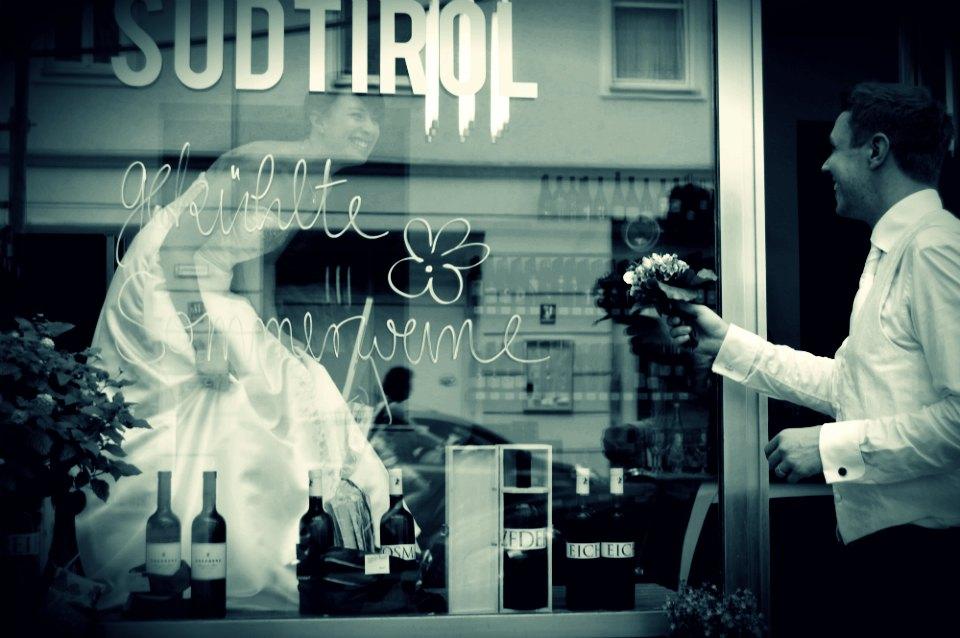 Die Braut im Schaufenster :o)