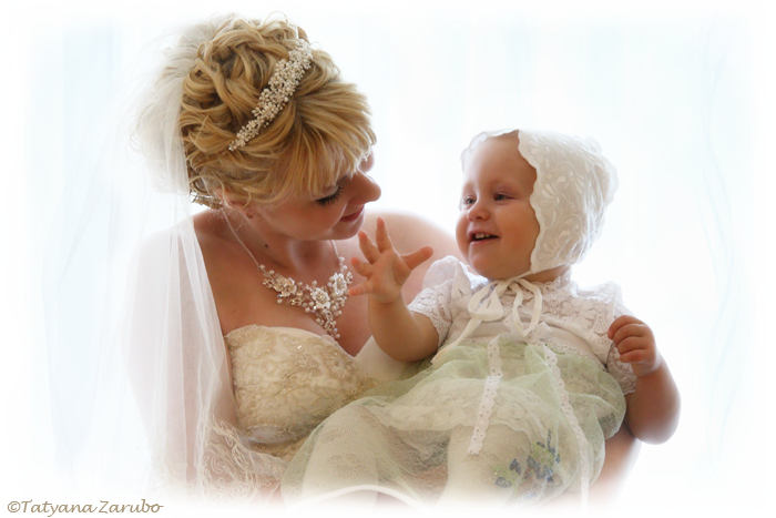 Die Braut mit dem Patenkind