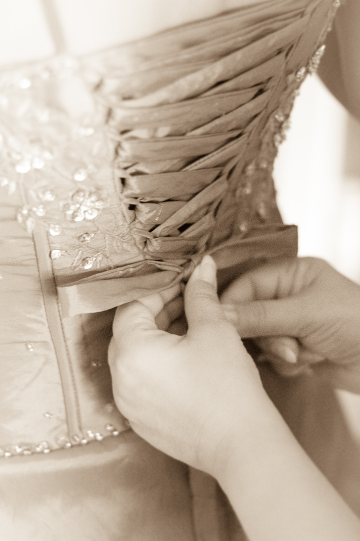 die Braut verschüren