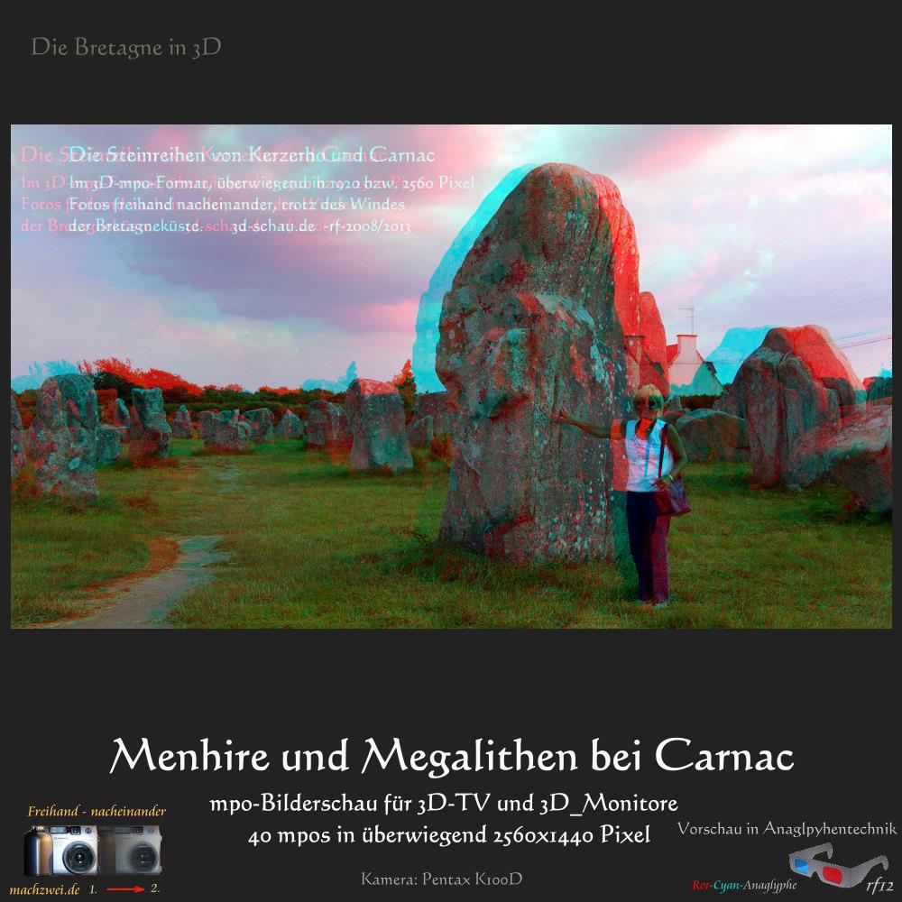 Die Bretagne in 3D - Carnac: Bilderschau in 40 mpo-Dateien zum Download