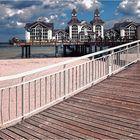 """... die """"Brücke""""  an der Seebrücke Sellin"""