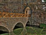 Die Brücke der Wasserburg in Bad Vilbel