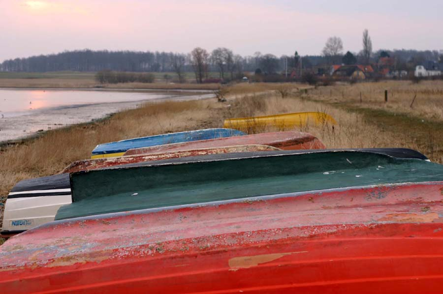 Die bunten Boote haben mich fasziniert