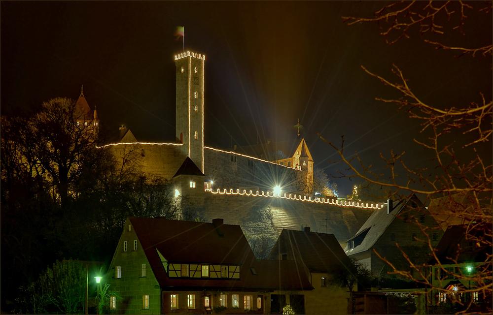 Die Burg Abenberg ...